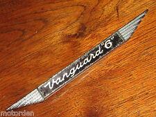 """Standard """"VANGUARD 6"""" or six motor car original chrome metal badge, FREE POST!"""