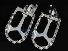 CNC RACING FOOTPEGS FOOTREST 1998-2012 KTM 65-990 Dirt Bike SILVER 9 FP13