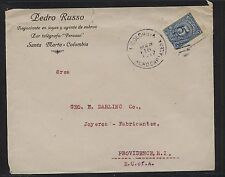 Colombia   cover to  US  1917                  MS0131