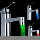 Bathroom Kitchen 7Color Colorful Changing LED Light Water Stream Faucet Glow Tap