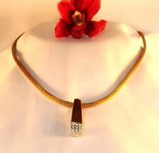 Pierre Lang Kette Strickkette mit Anhänger Schlangenkette vergoldet /bn 001
