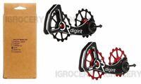 DIGIRIT Oversized Ceramic Pulleys Wheel 16/16T System Sram/Force NIB Black & Red