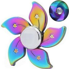 Rainbow Fidget Hand Spinner Flower Star Finger Toy EDC Focus ADHD Ball Autism F6