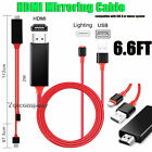 Phone to HDMI Adapter Cable For iPhone 11 12 13 Pro Max XR XS 6 6s 7 8 Plus iPad