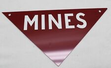 Vintage Vietnam Us military Minefield marker Mines red metal sign each E2209