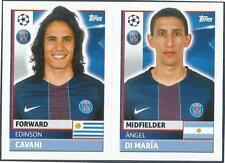TOPPS CHAMPIONS LEAGUE-2016-17- #PSG18-19-PARIS SAINT-GERMAIN-DI MARIA/E CAVANI