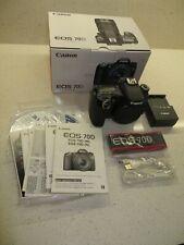 Canon EOS 70D DSLR Camera in box - Low shutter