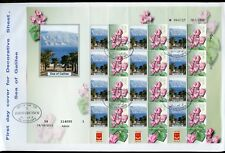 ISRAEL 2010 SEA OF GALILEE CYCLAMEN FLOWER SHEET ON FIRST DAY COVER
