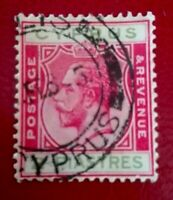 Cyprus:1924 King George V - New Design 2 Pia Rare & Collectible stamp.