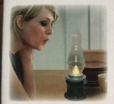 2x Nostalgic Kerosene Style LED Lamp Blow On & Off  Battery Powered & Adjustable