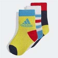 🎁 Adidas Niños Chicos Calcetines Tobillo 3 pares de entrenamiento lifstyle bebé EU 19-22