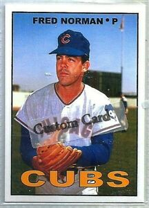 FRED NORMAN CHICAGO CUBS 1967 STYLE CUSTOM MADE BASEBALL CARD BLANK BACK