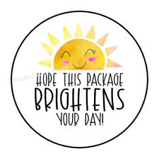 30 HOPE THIS PACKAGE BRIGHTENS YOUR DAY ENVELOPE SEALS LABELS STICKERS 1.5
