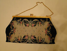 NOS New Vintage Bags by Josef Cut Steel Beads Beaded Bag Made by Hand in France