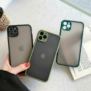 Case for iPhone 11 12 Pro Max Matte Clear Shockproof Phone Cover Bumper Silicone