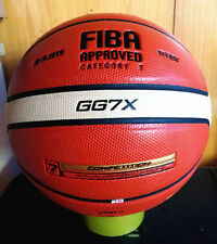 Molten GG7X 7 PU Leather Basketball Ball Training In/Outdoor With Mesh + Needle