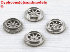 TEAM SLOT Minilite Rear Wheel Inserts x 4 - Sliver Painted - E0116 - New