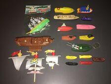Big Vintage Miniature Plastic Fleet - Gallions To Subs - Sail, Steam & Atomic!