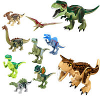 10Pcs Building Blocks Park Dinosaur Toys World Birthday Gift Play Toy Animal