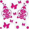 14 Pegatina Tatuaje Mariposa Abeja Flor Coche Mueble Armario Puerta Deco Lámina