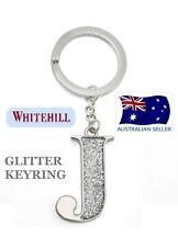Whitehill - Silver Glitter Inital Keyring Letter J