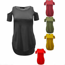 Unbranded Cap Sleeve Hip Length No Pattern Women's Tops & Shirts