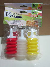 NEW (1) 3-PC MINI CONDIMENT SET TAKE ALONG EASILY ANYWHERE~IMMEDIATE SHIPPING!