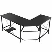 Computer Gaming Laptop Table L-Shaped Desk Corner Workstation Office Home Desk