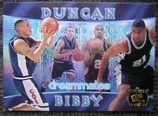 "1998 PRESS PASS ""DUNCAN/BIBBY"" NBA BASKETBALL FOIL PROMO CARD - V/GOOD Cond"