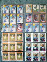 Shawon Dunston Baseball Card Mixed Lot approx 172 cards