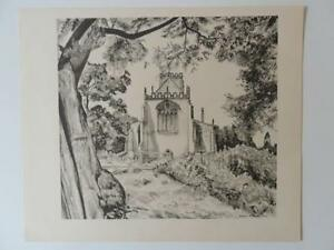 Print St Mary The Virgins Thirsk by Michael Rothenstein