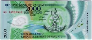 Vaniatu 2000 Vatu 2014 🔸UNC🔸 Polymer Banknote - k166