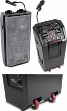 All-in-one Mobile DJ-PA Active Stereo PA SYSTEM w/ dual iPod/iPhone docks