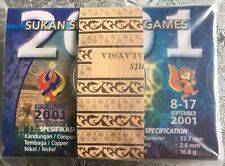 Coin Card Sea Games 2001 1 Pack 10 Pcs Mint