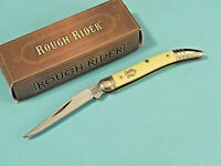 """ROUGH RIDER RR604 BABY TOOTHPICK Yellow synthetic pocket knife 3"""" closed NEW!"""