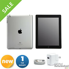 New Apple iPad 2 16GB Black Wifi +3G Verizon Tablet w/ 1-Year Warranty