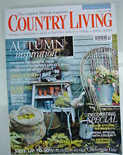Country Living Magazine. October, 2009. Issue No. 286. Autumn Inspiration.