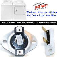 Dryer Cycling Thermostat & Thermal Fuse For Whirlpool Maytag Kenmore Replacement