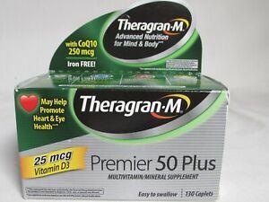 Theragran-M Premier 50 Plus Multivitamin Multimineral w/ CoQ10 130 Ct Exp 02/22
