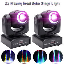 2x U`king 70W LED Stage Light RGBW 8 Pattern Gobo Moving Head DMX Disco Party DJ