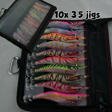 10 Squid Jigs 3.5 Egi Jig Bait Lure 10 Pack Tackle Bag Jig Soft Fish