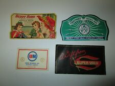 Lot of 4 Vintage Advertising Sewing Needle Kit Happy Home Finepoint Super Valu