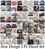 Print Luxury Duvet Quilt Cover with Pillowcase Reversible Bedding Set All Sizes