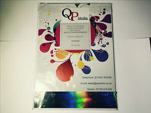 A4 WHITE MAGNETIC PHOTO PAPER FOR INKJET PRINTERS,HIGH GLOSS, 640GSM (5 SHEETS)