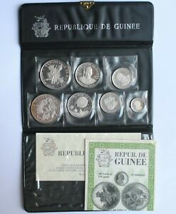 """Guinea 100, 200, 250, 500 francs 1969, PROOF, """"10th Anniversary - Independence"""""""
