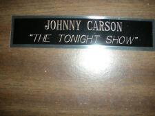 JOHNNY CARSON (TONIGHT SHOW) NAMEPLATE FOR SIGNED PHOTO/MEMORABILIA DISPLAY