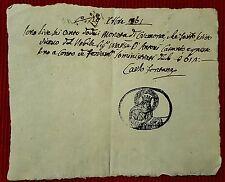G15-PERIODO NAPOLEONICO, CREMONA, RICEVUTA DI PAGAMENTO, CARLO FONTANA, 1801