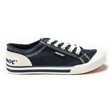 New Womens Rocket Dog Navy Jazzin Canvas Trainers Plimsolls Lace Up