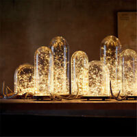 1m 10er LED Lichterkette Draht Micro warmweiß, Batteriebetrieb