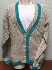 Nwt Rare Scarab Mens Xl Sweater Made in Italy Button Up 1980s 90s